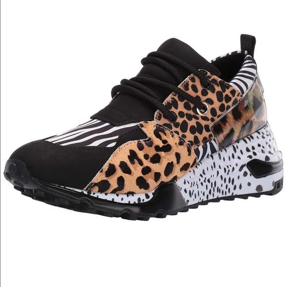 Steve Madden Sneakers Animal Print Sz 7